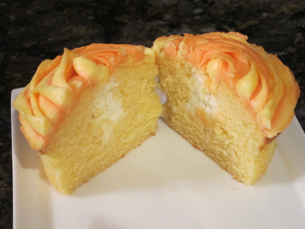 Orange Creme Cupcakes Recipe — Dishmaps