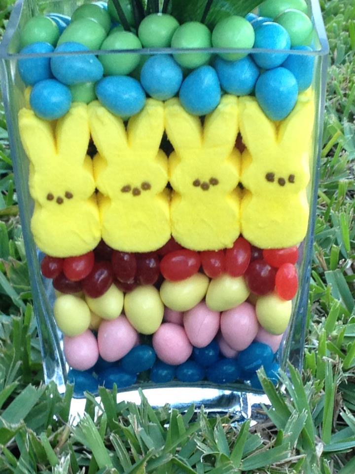 Easter Peeps Peeps easter centerpiece