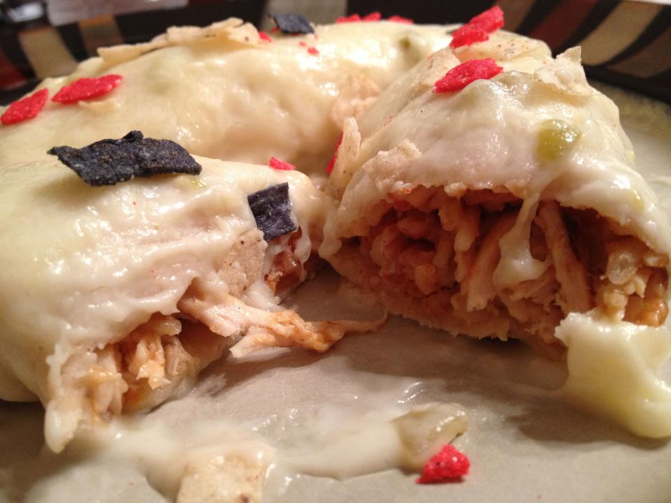 Grilled Chipotle Lime White Chicken Enchiladas