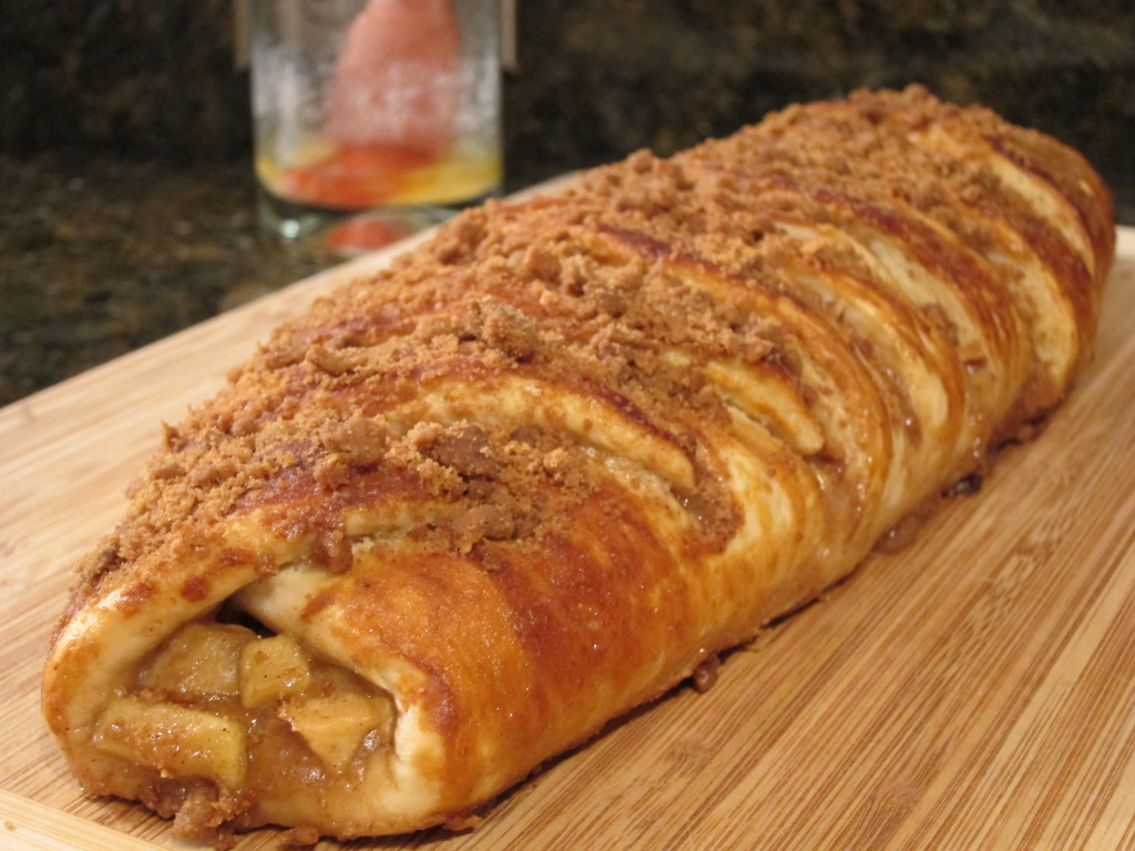 Caramel Apple Crisp Pretzel Braid