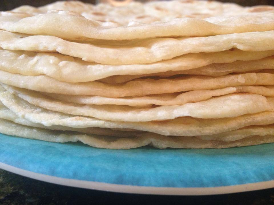 Homemade Soft White Flour Tortillas