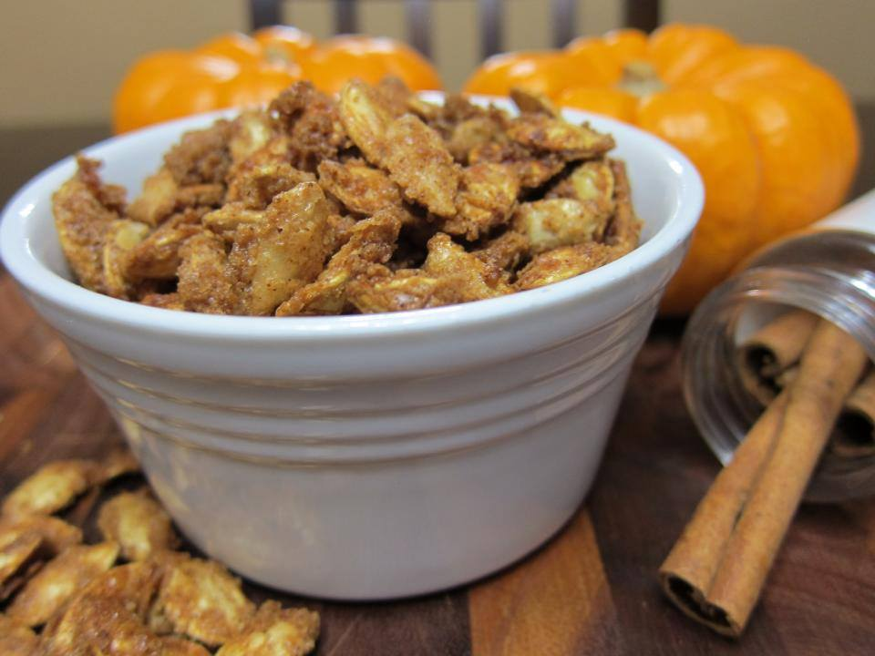 Cinnamon Streusel Pumpkin Seeds And Homemade Pumpkin Puree