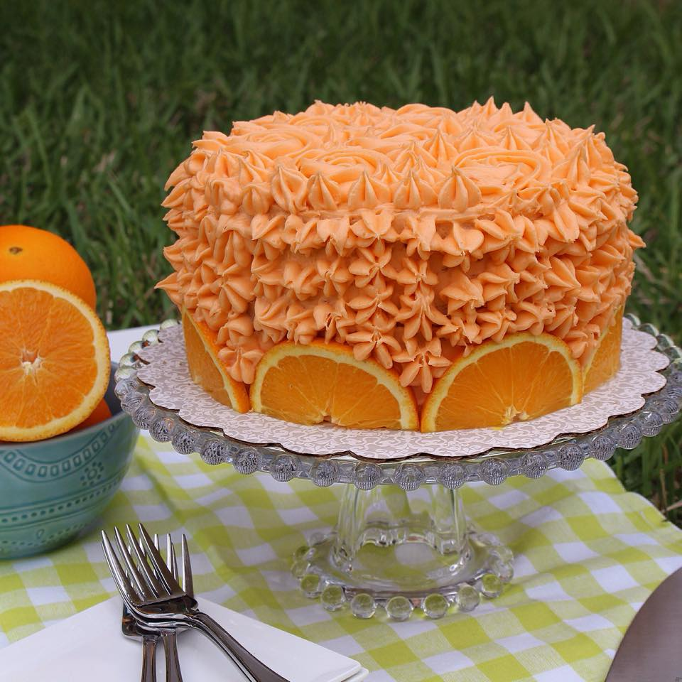 Orange Crunch Cake From Bubble Room